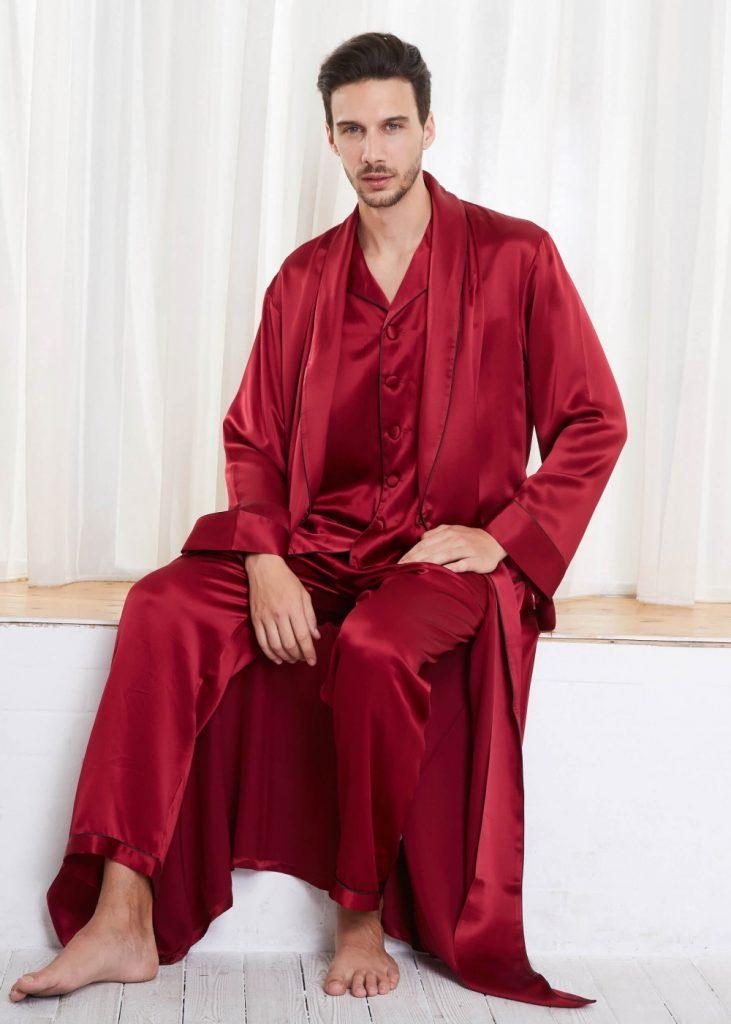 Seidenpyjamas für Männer